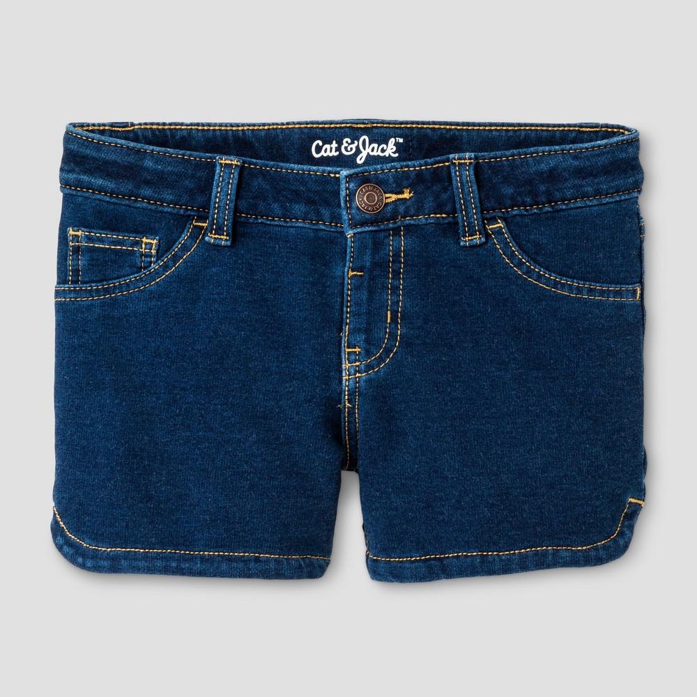 Girls Jean Shorts - Cat & Jack Dark Blue XS