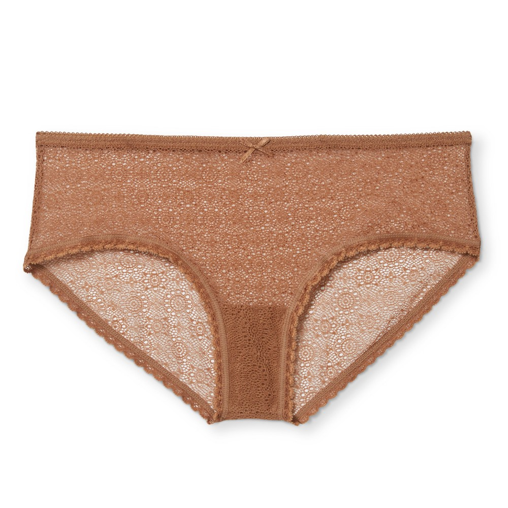 Womens All Over Lace Hipster - Xhilaration - Caramel XL