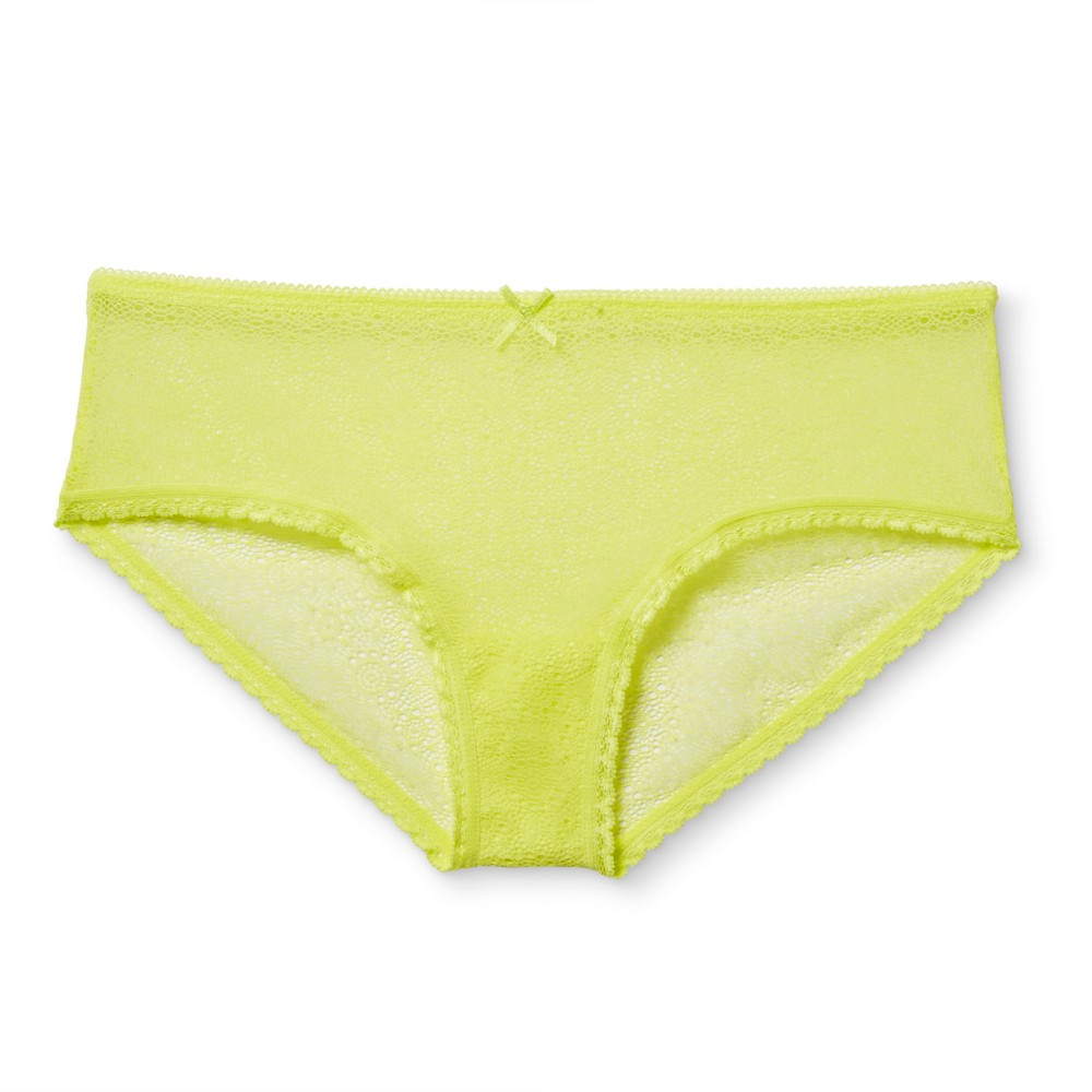 Womens All Over Lace Hipster - Xhilaration - Acid Yellow M