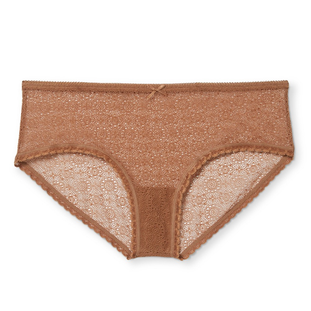 Womens All Over Lace Hipster - Xhilaration - Caramel S