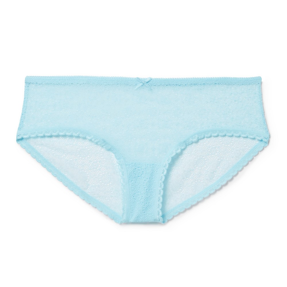 Womens All Over Lace Hipster - Xhilaration - Sheer Turquoise L