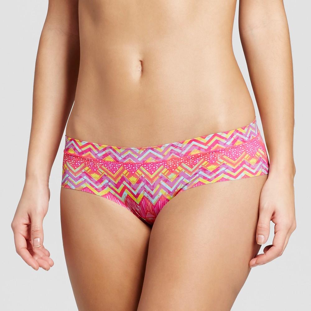 Womens Laser Cut Hipster - Xhilaration - Patchwork Print M, Pink/Orange