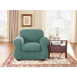 Stretch Pique 2pc Chair Slipcover - Sure Fit