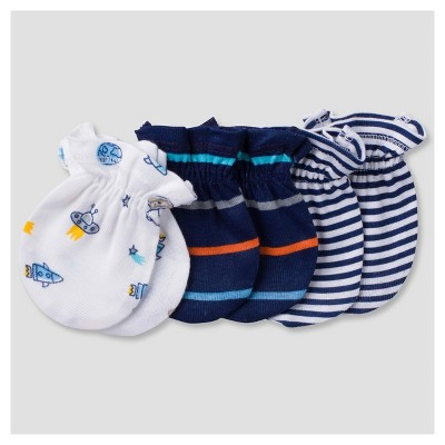 Baby Boys' 3pk Mitten Set Monkeys - Gerber®