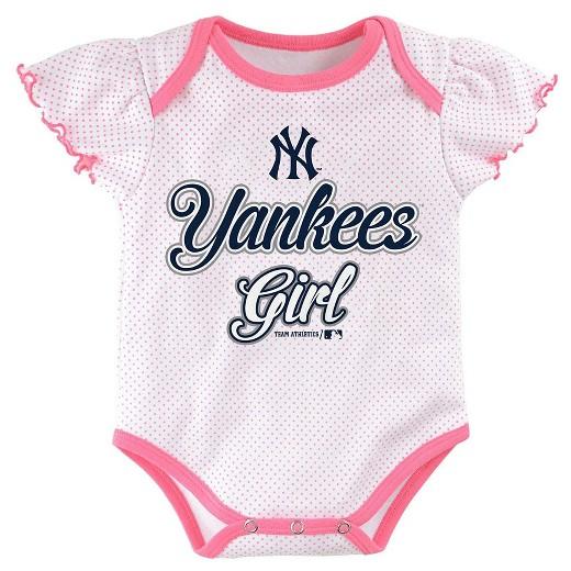 New York Yankees Baby Girls Cutest Little Fan 3pk