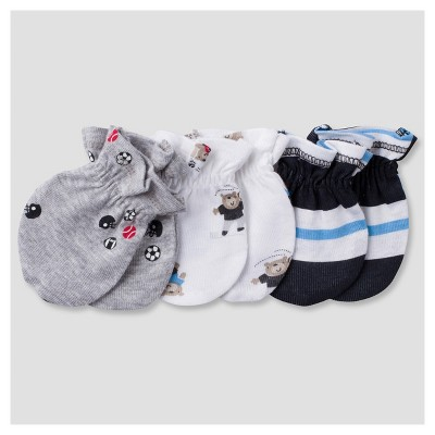 Baby Boys' 3pk Mitten Set Sports - Gerber®