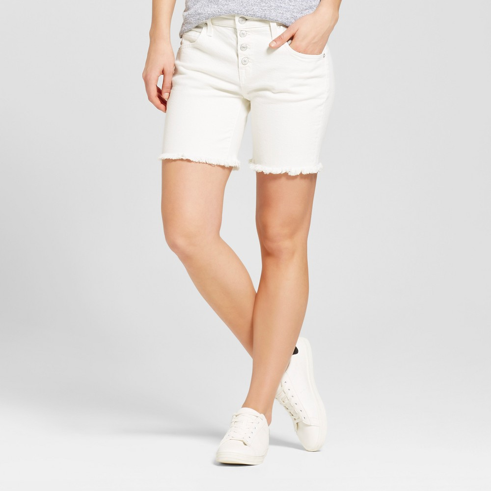 Womens Jean Shorts - Mossimo White 0, Size: 00