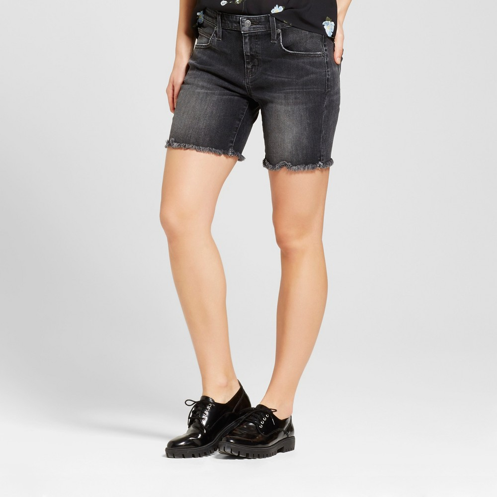 Womens Jean Shorts - Mossimo Black 4