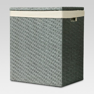 Lined Hamper - Gray Weave - Threshold™