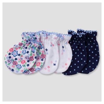 Baby Girls' 3pk Mitten Set Butterfly - Gerber®