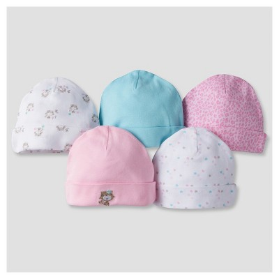 Baby Girls' 5pk Cap Set Kitty - Gerber®