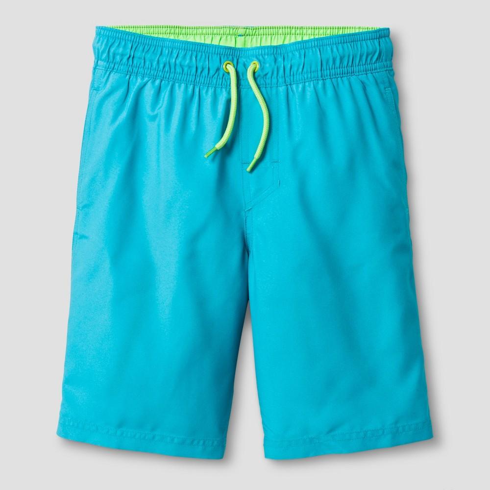 Boys Swim Trunks - Cat & Jack Blue M Husky
