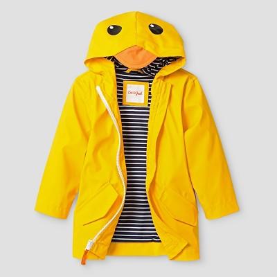 Toddler Boys' Duck Hooded Raincoat - Cat & Jack™ Yellow 18M