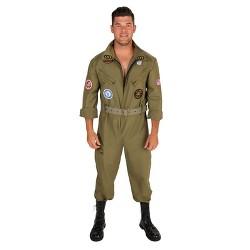 Fighter Pilot Jumpsuit Men's Costume