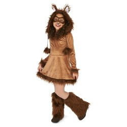 Girls' Furry Fox Costume