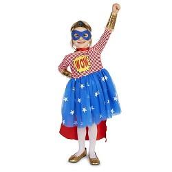 Girls' Pop Art Comic Superhero Costume