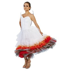 Wedding Dress On Fire Women's Costume