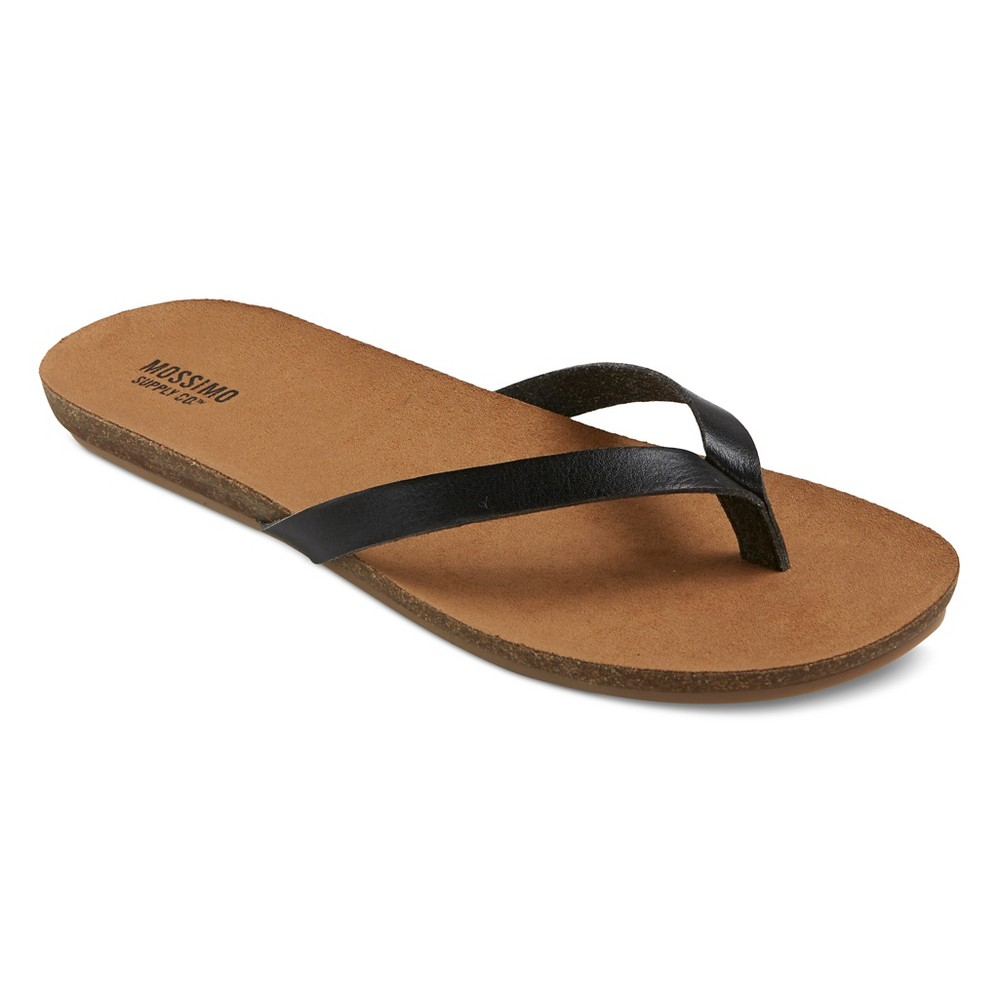 Womens Odele Flip Flop Sandals - Mossimo Supply Co. Black 8