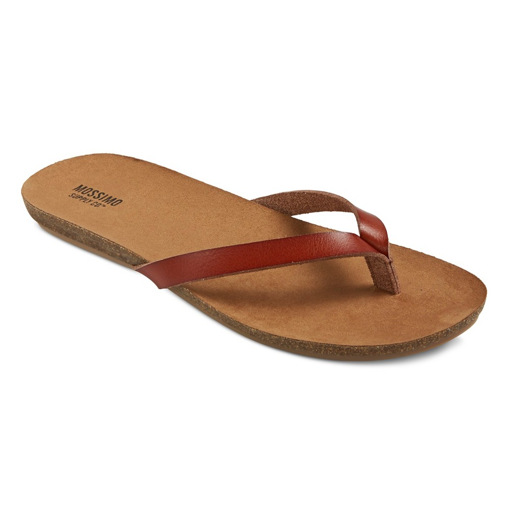 Womens Odele Flip Flop Sandals - Mossimo Supply Co. Cognac (Red) 9