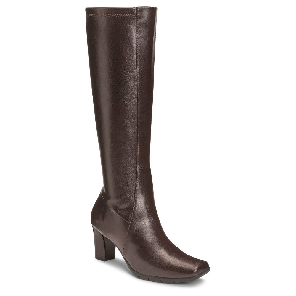 Womens A2 by Aerosoles Lemonade Extendable Calf Dress Boots - Brown 6