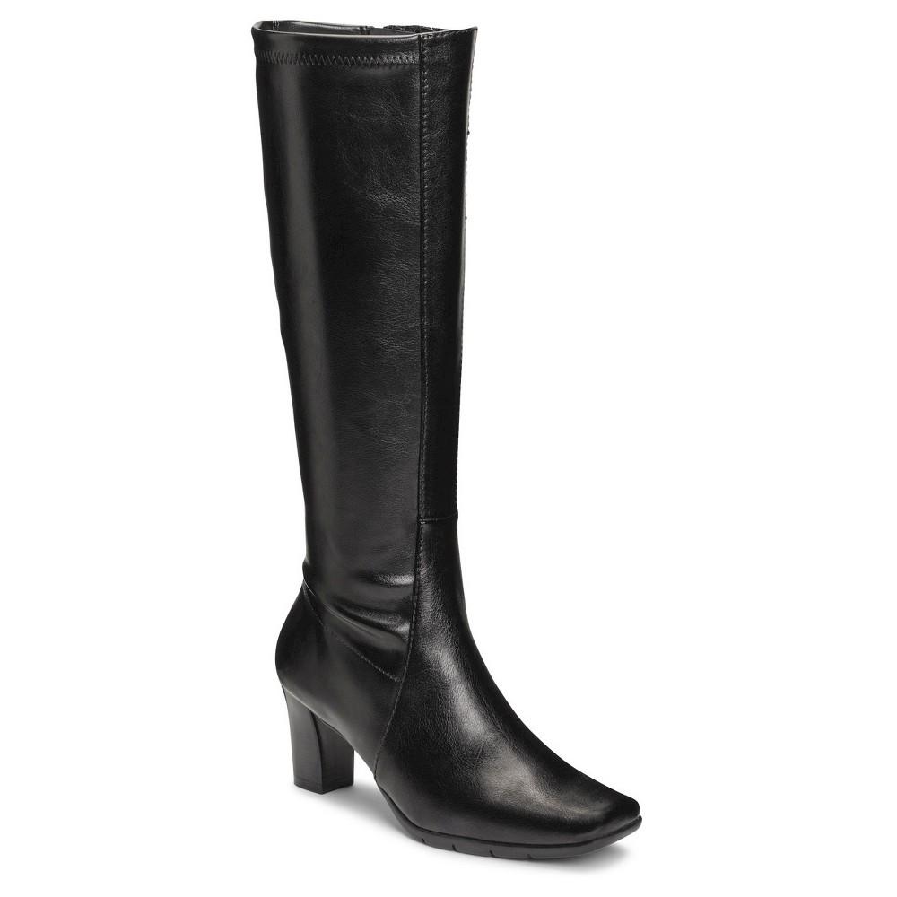 Womens A2 by Aerosoles Lemonade Extendable Calf Dress Boots - Black 5.5