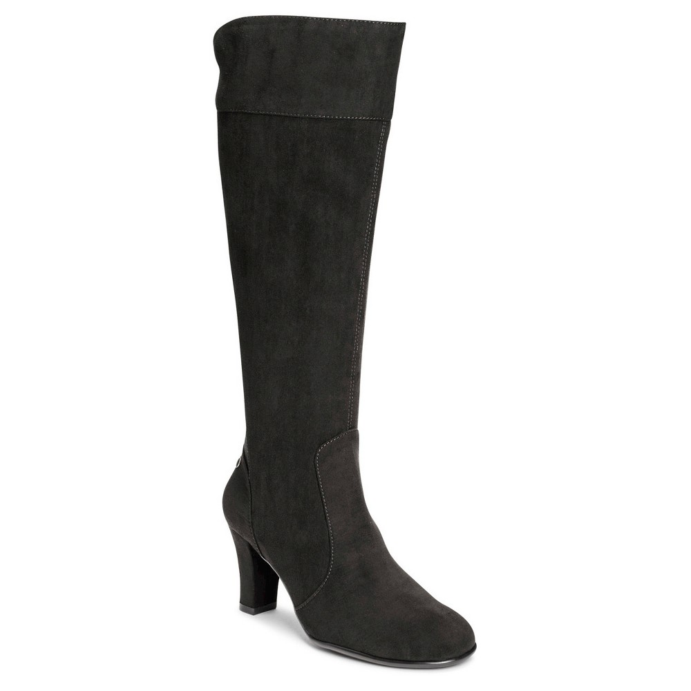 Womens A2 by Aerosoles Log Role Extendable Calf Dress Boots - Black 8.5