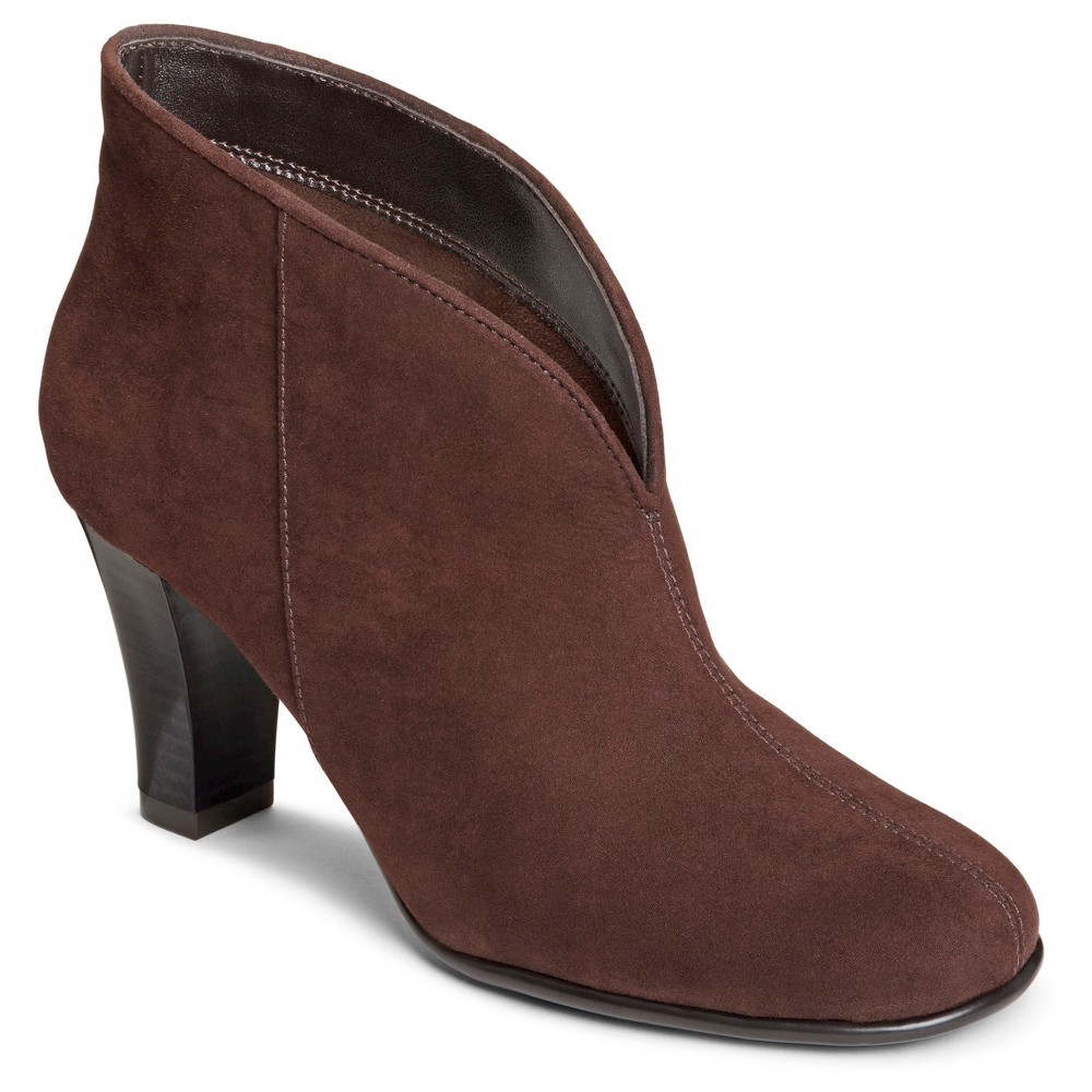 Womens A2 by Aerosoles Gold Role Booties - Brown 6