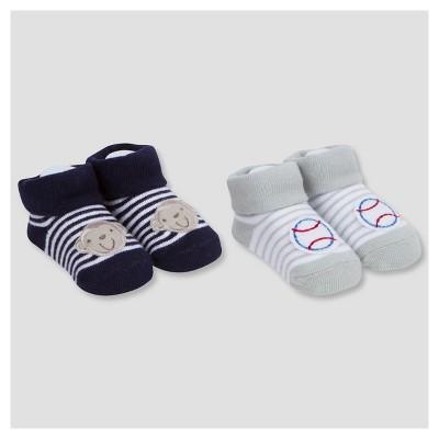 Baby Boys' 2pk Bootie Sock Sport/Monkey - Gerber®