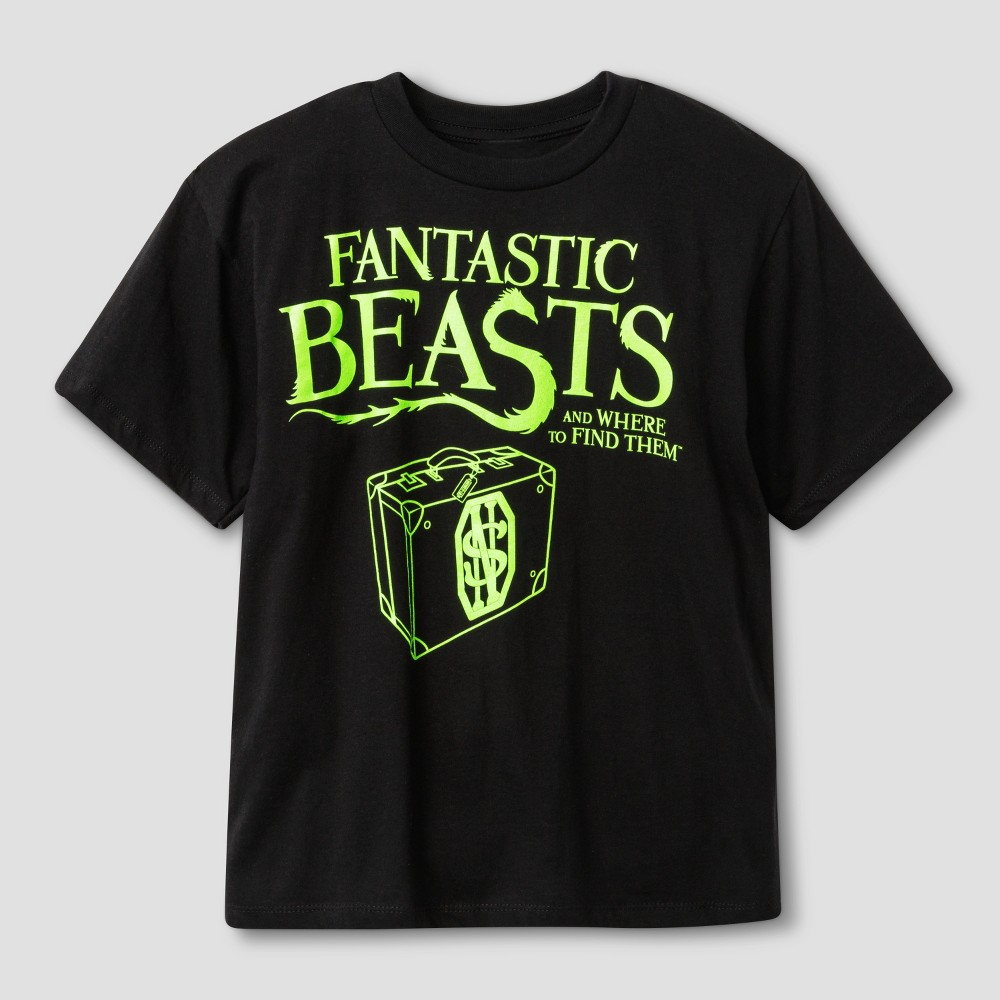 Boys' Fantastic Beasts Glow in the Dark Tee – Black, Boy's, Size: XS