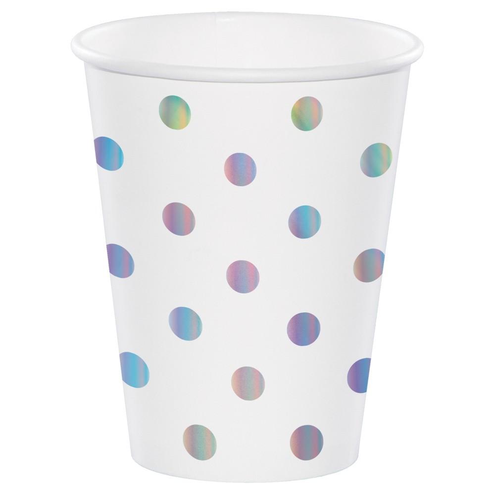 10ct Unicorn Iridescent Paper Cup - Spritz