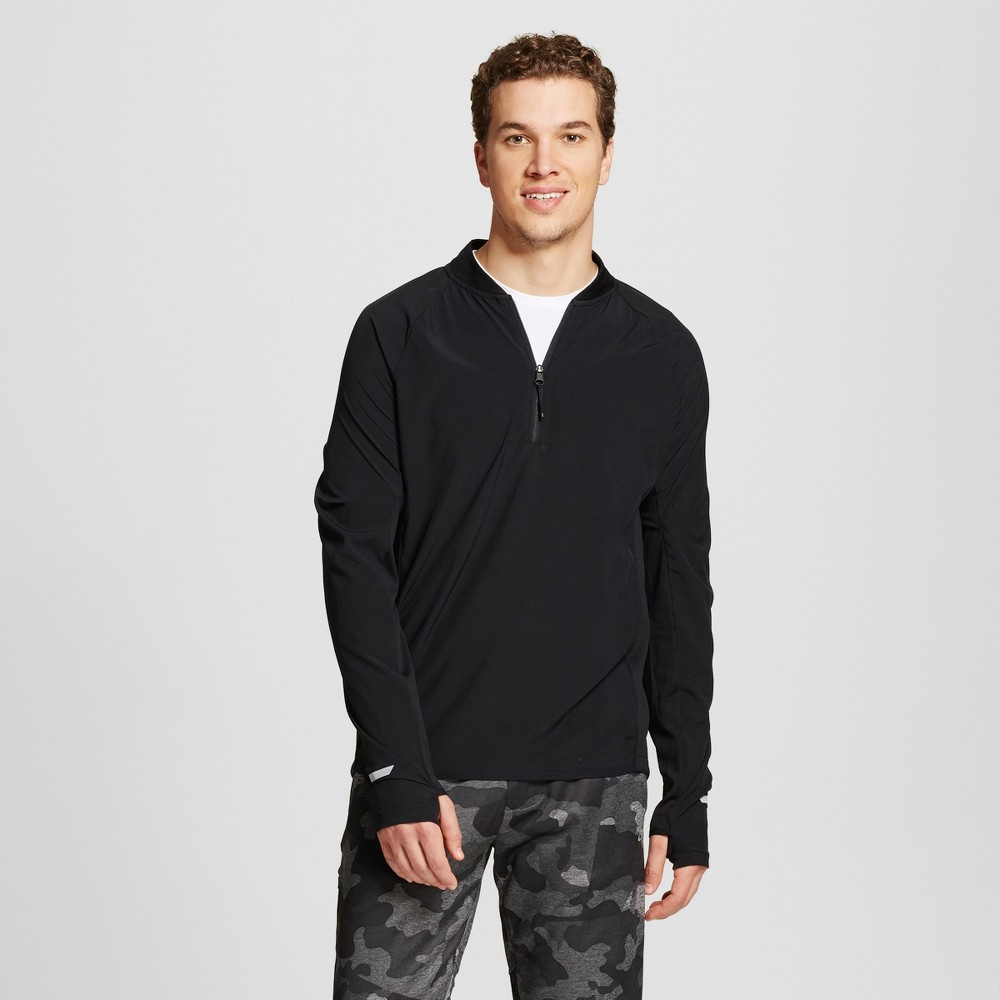 Mens Woven Running 1/4 Zip - C9 Champion - Black S