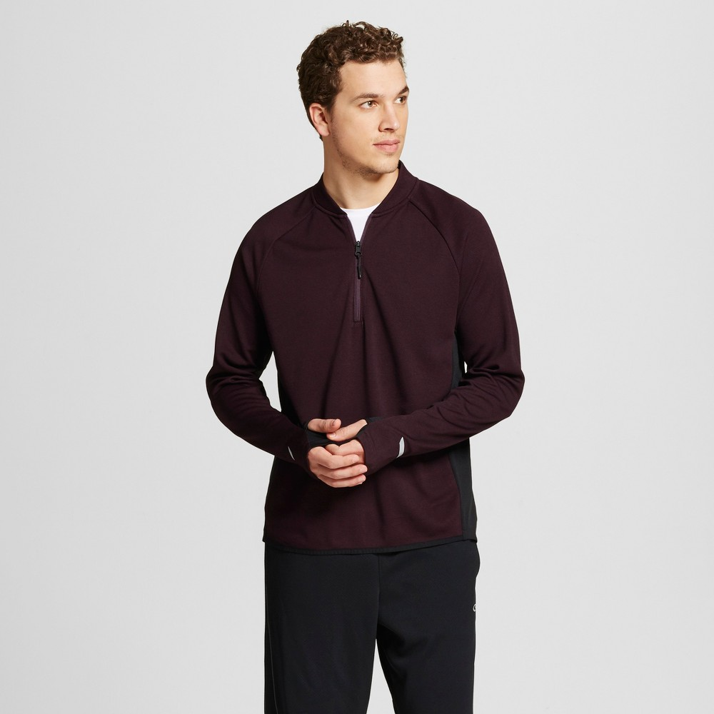 Mens Running Bomber 1/4 Zip Pullover - C9 Champion - Burgundy Heather M