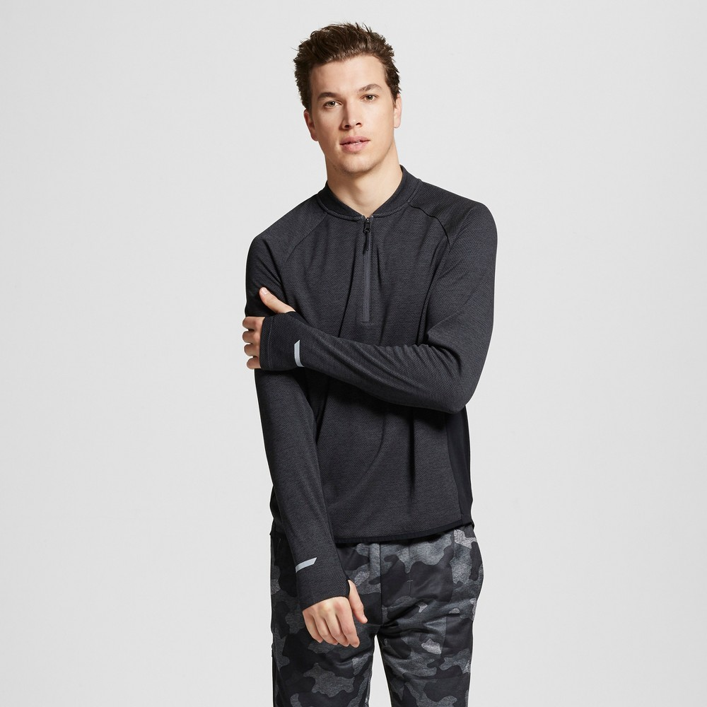 Mens Running Bomber 1/4 Zip Pullover - C9 Champion - Charcoal Heather M
