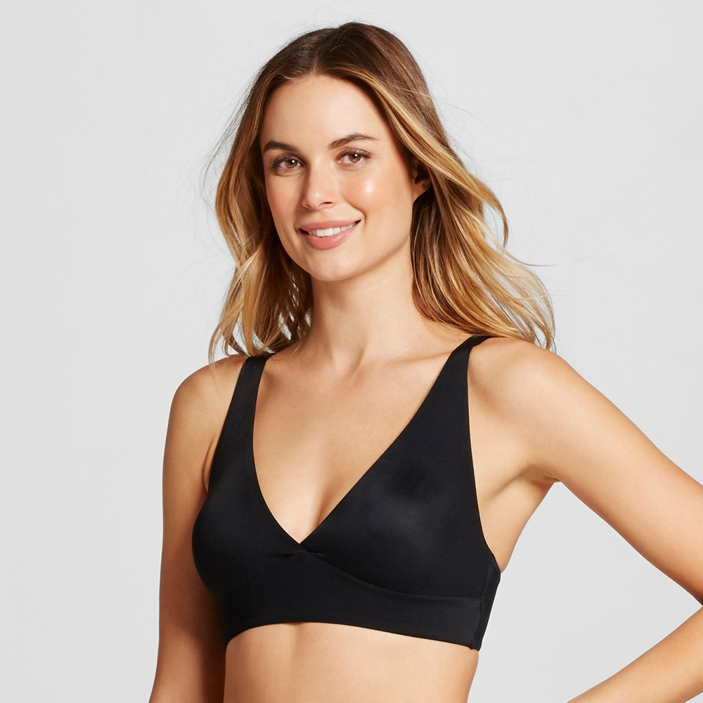 Womens Unlined Micro Bralette - Black L