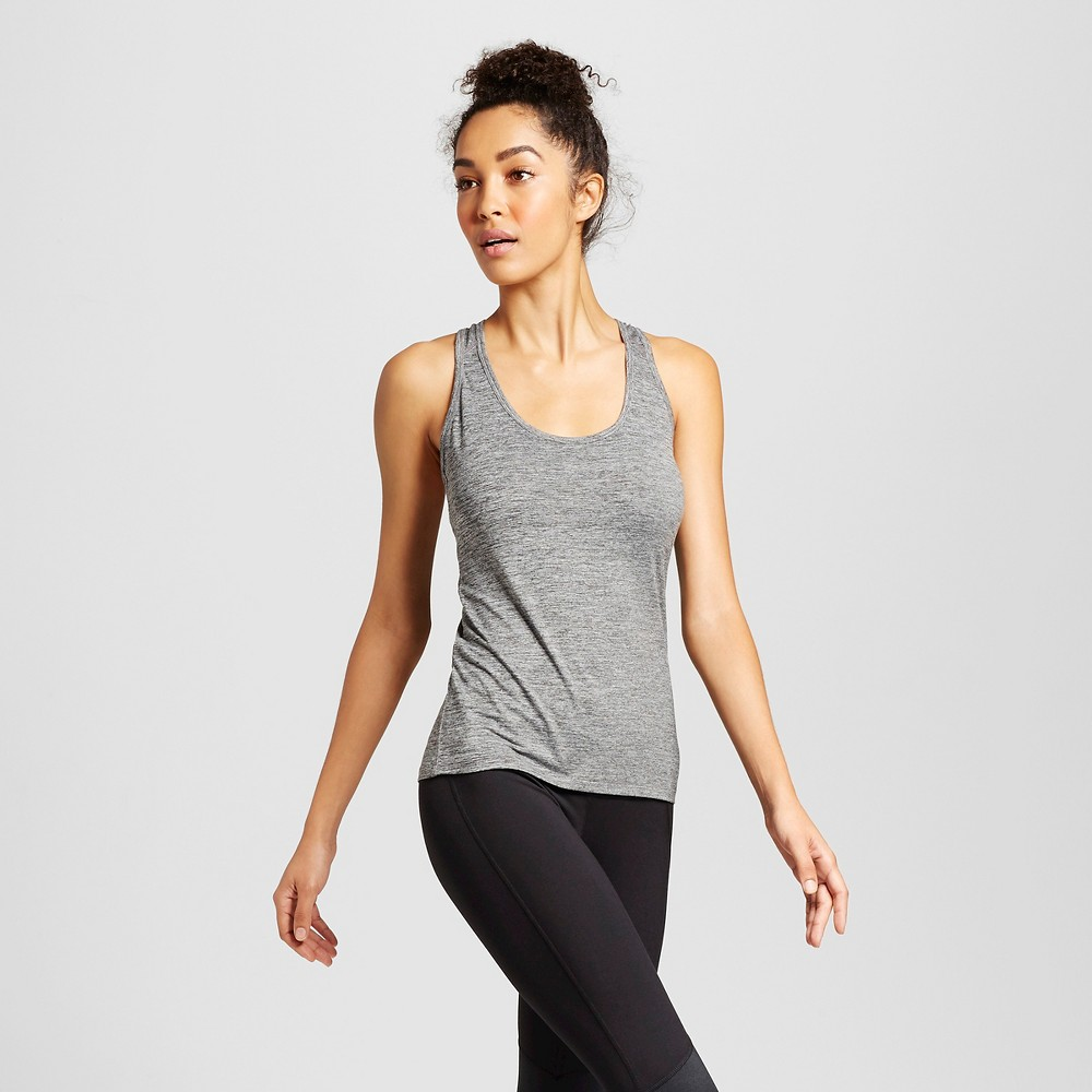 Women's Performance Fitted Tank Top - C9 Champion Black Heather L