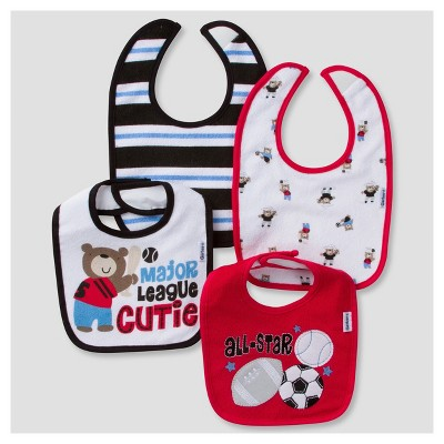 Baby Boys' 4pk Terry Bib Set Sports - Gerber®