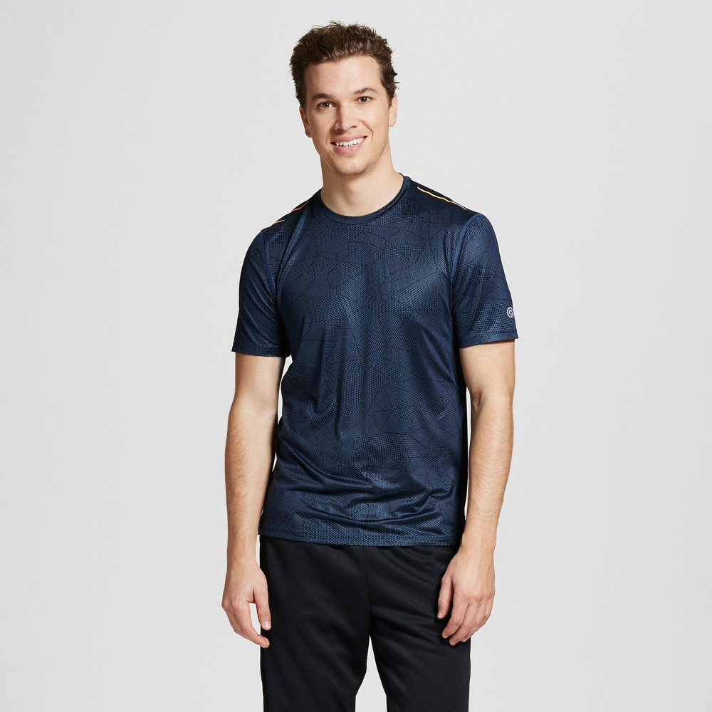 Mens Graphic Run T-Shirt - C9 Champion Cruising Blue L