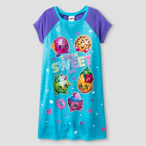 Girls' Shopkins™ Nightgown - Purple - image 1 of 1
