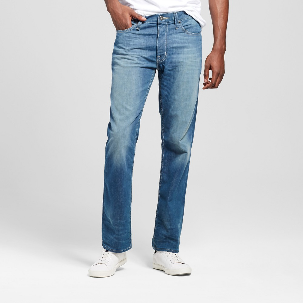Mens Slim Straight Fit Jeans - Mossimo Supply Co. Medium Wash 42x32, Blue