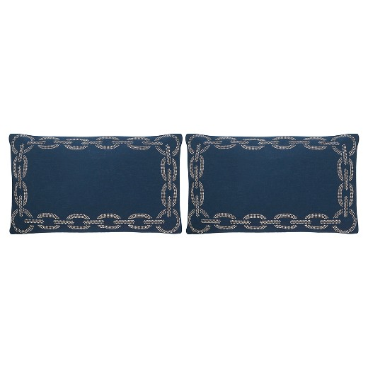 Navy Blue Throw Pillows Target : Navy/Blue Sibine Throw Pillows - 2 Pack - (12