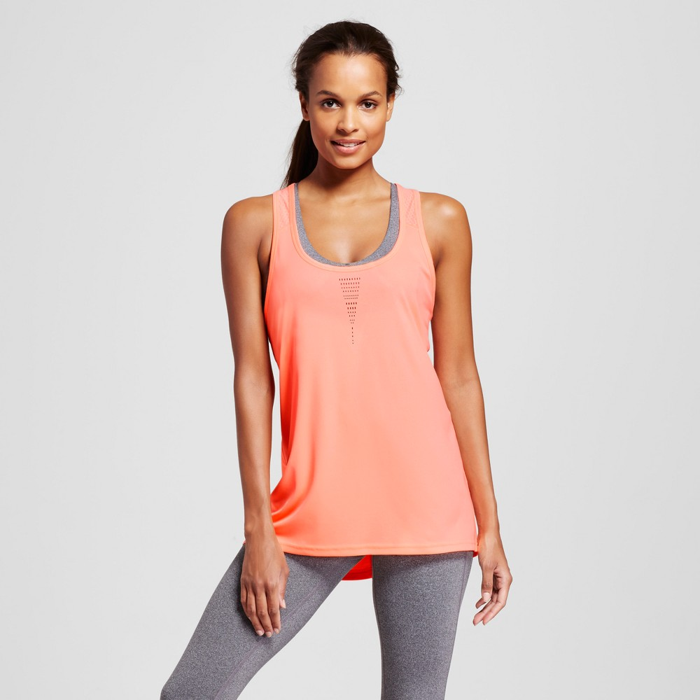 Womens Run Singlet - C9 Champion - Coral (Pink) XS