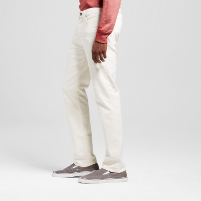Men's Slim Straight Fit Jeans - Mossimo Supply Co. Natural Wash 29x32, White