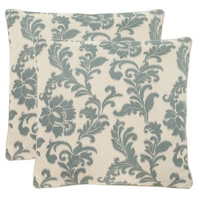 Steel/Blue Aubrey Throw Pillows - 2 Pack - (18 x18 )- Safavieh®