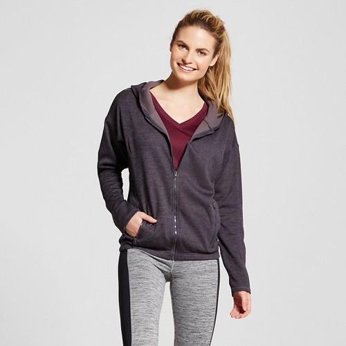 Women's Tech Fleece Full Zip Hoodie - Indigo Screen Heather L - C9 Champion