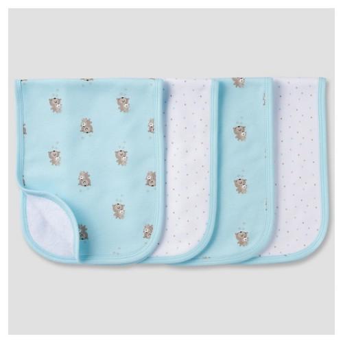 Babys' 4 Pack Terry Burpcloth Set Bears - Gerber, Blue