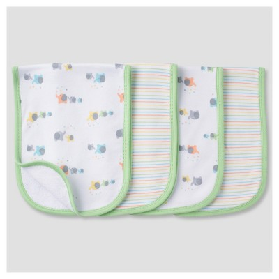 Babys' 4 Pack Terry Burpcloth Set Elephants - Gerber®