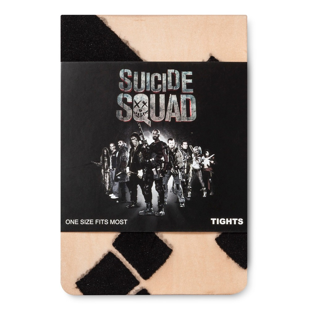 Suicide Squad Harley Quinn Womens Tights - Nude One Size