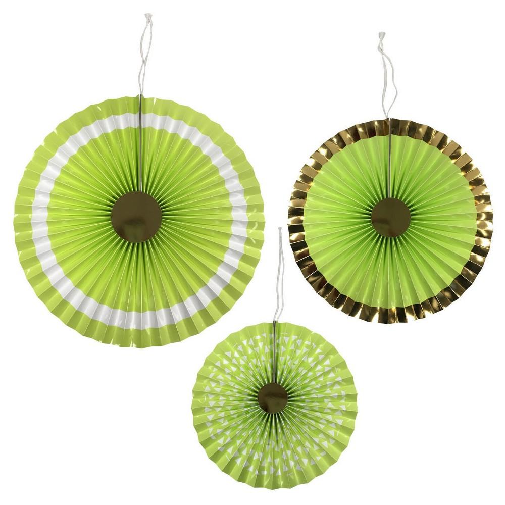 3ct Light Green Paper Fan - Spritz, Womens