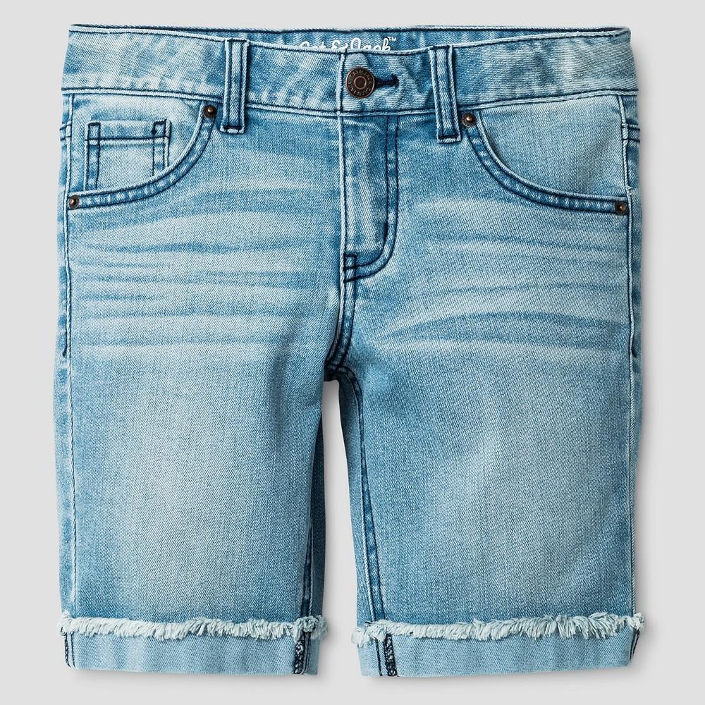 Plus Size Girls Denim Bermuda Shorts Light Wash - Cat & Jack Cloud L Plus, Blue