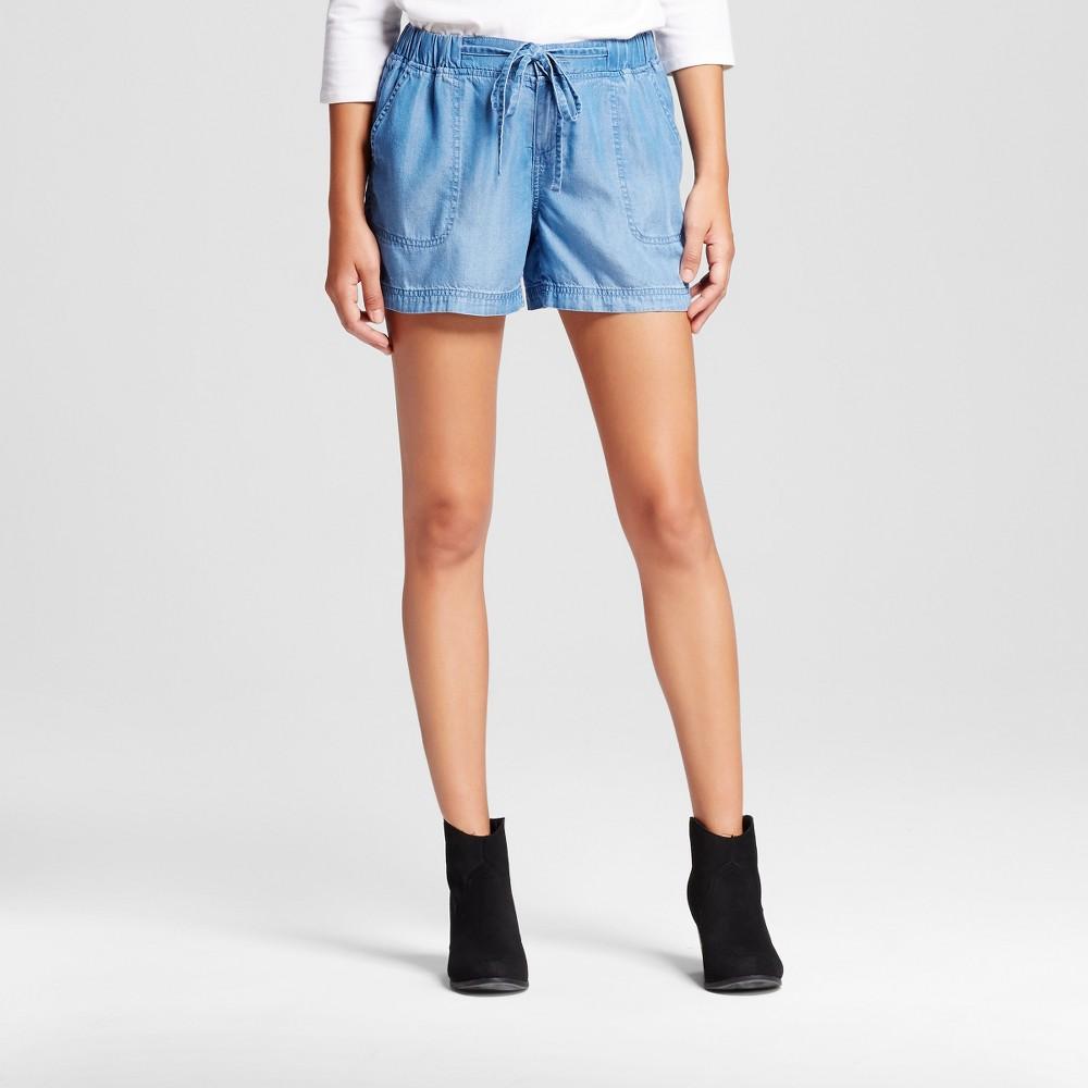 Womens 4 inch Easy Waist Tencel Denim Blue XL - Merona